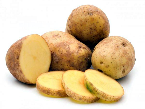 Внешний вид клубней картофеля Гала