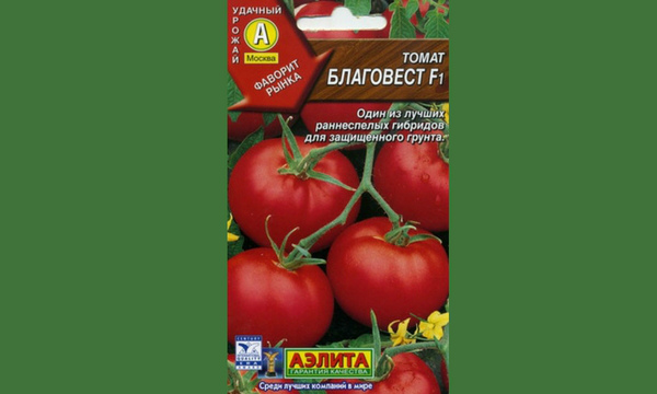 Упаковка семян гибридного сорта помидор Благовест