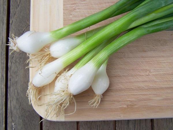 Зеленый лук на доске