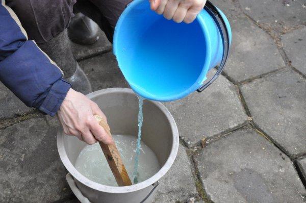 Приготовление раствора медного купороса