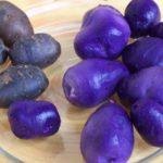 Картофель цветной на тарелке