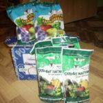 Пакеты с удобрениями для почвы