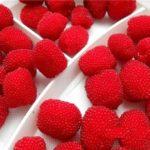 Урожай ягод малины Тибетской