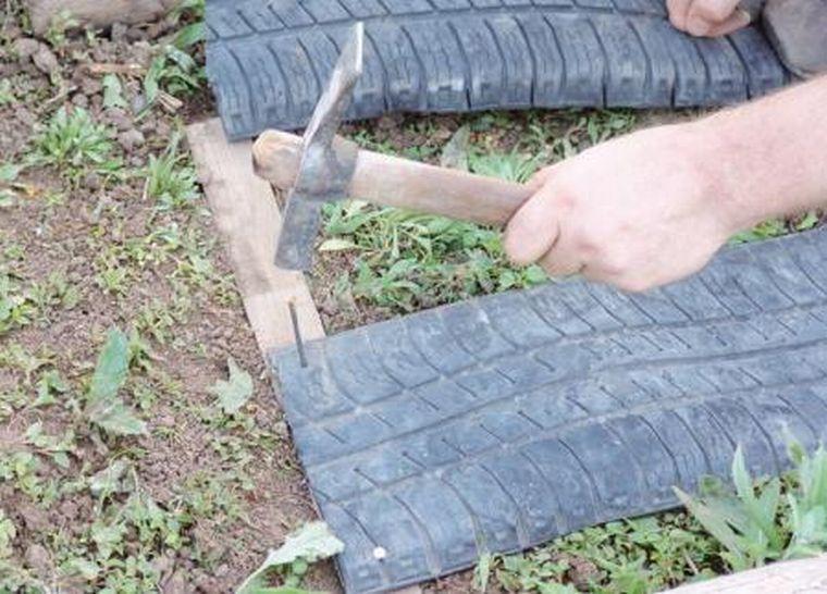 Барьер для малины - автомобильные шины