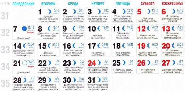 Лунный календарь 2014 окрашивание