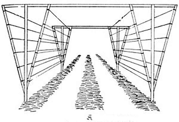 Схема двухплосткостной опоры