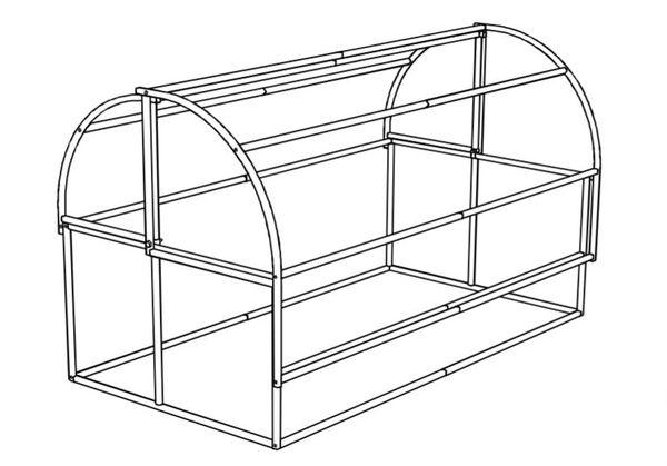 Схема теплицы хлебницы