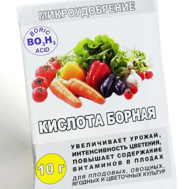 Борная кислота – микроудобрение для овощей