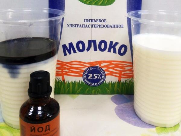 Раствор на основе молока и йода для подкормки огурцов