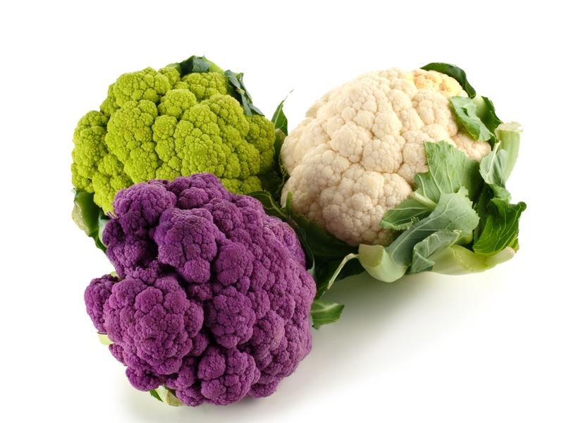 Разные сорта цветной капусты