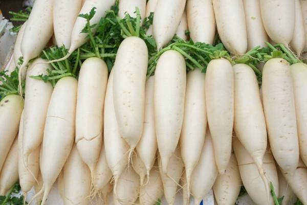 Редька дайкон - это крупный белый корнеплод