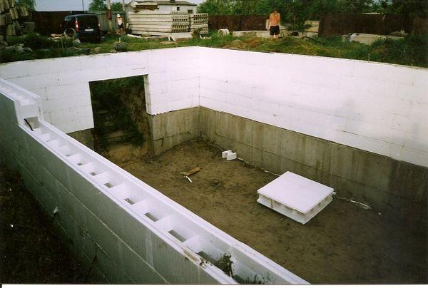 Строительство фундамента термотеплицы