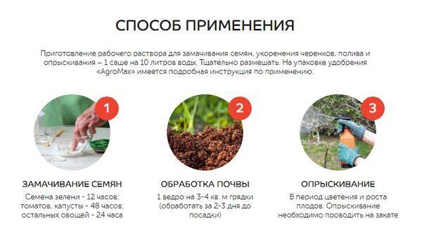 Как применяется удобрение AgroMax
