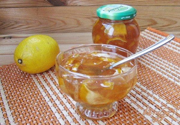 Лимонное варенье дольками вместе с цедрой