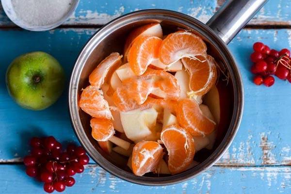Очень вкусный джем из яблок и мандарин