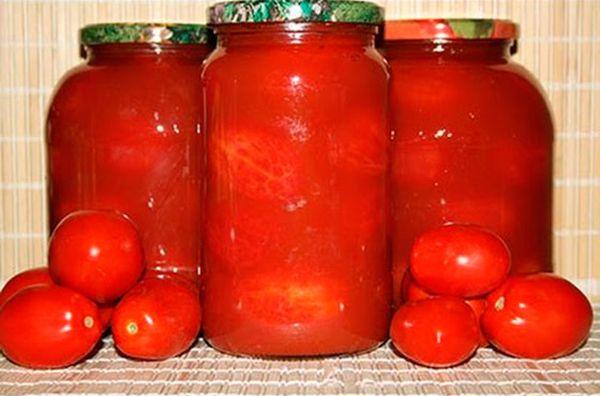 Помидоры на зиму в томатной заливке