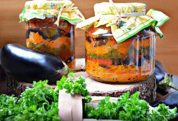 Классические баклажаны в маринаде