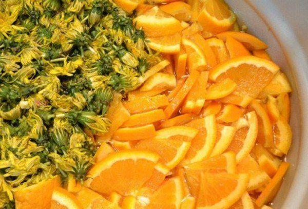 Варенье из одуванчиков с апельсинами