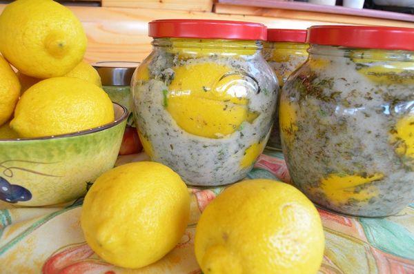 Соленье к мясу из лимонов