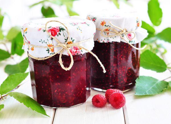 Перетертые ягоды малины