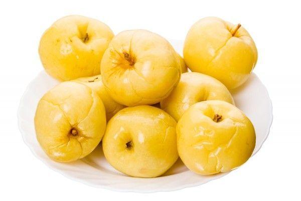Соленые яблоки на зиму